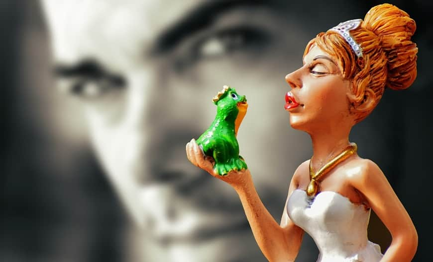 לנשק צפרדע - פסלון