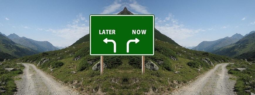 מיד או מאוחר יותר