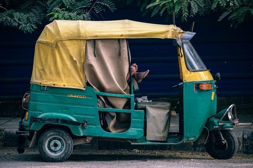 ריקשה ממונעת בהודו