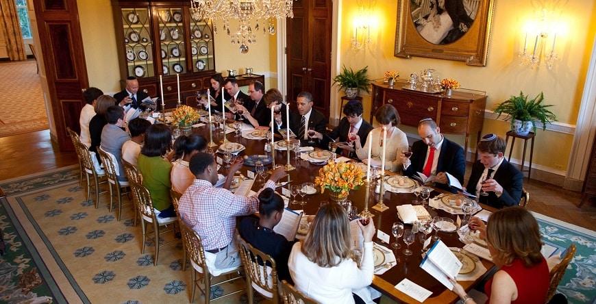 ליל הסדר עם בני משפחת ברק אובמה