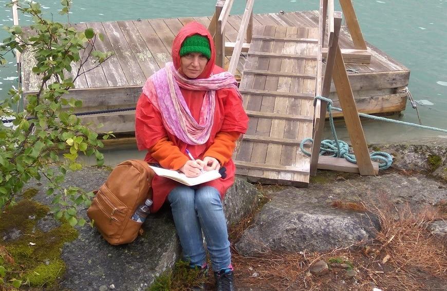 נעה כותבת בלוג בנורווגיה. צילום מאת סיגלית שביט