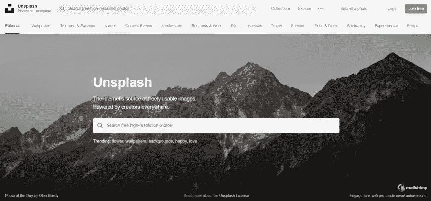 מאגר תמונות חינם - Unsplash