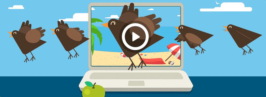איור של יצירת אנימציה של ציפור