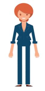 דמות לסרטון אנימציה Toonly - טונלי (אדווה)