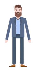 דמות לסרטון אנימציה Toonly - טונלי (איש העסקים ברוך)