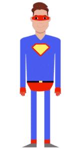 דמות לסרטון אנימציה Toonly - טונלי (איתן בתחפושת סופרמן)