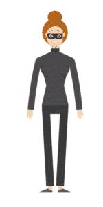 דמות לסרטון אנימציה Toonly - טונלי (גלית עם המסיכה)