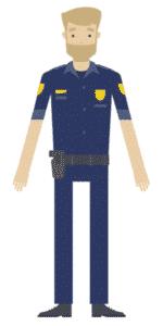 דמות לסרטון אנימציה Toonly - טונלי (השוטר חיים)