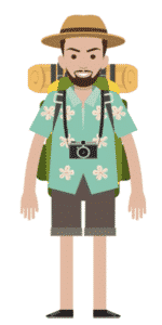 דמות לסרטון אנימציה Toonly - טונלי (רפי התרמילאי)