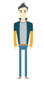 דמות לסרטון אנימציה Toonly - טונלי (שלום)