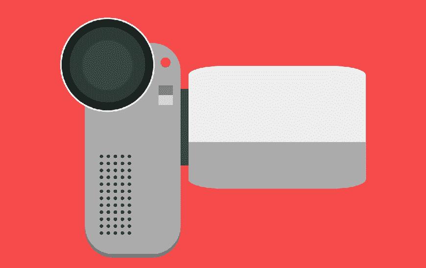 איור של מצלמת וידאו