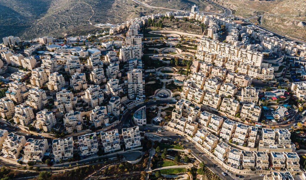 שכונה בירושלים שצולמה עם רחפן